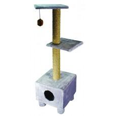 Дарэлл 8203 Домик-когтеточка 3-х уровневый квадратный 43*43*139 см (14462)