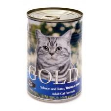 """Nero Gold Консервы для кошек """"Лосось и тунец"""" (Salmon andTuna) 410г"""