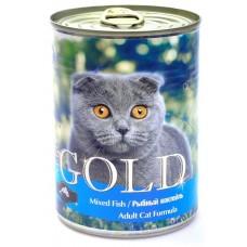 """Nero Gold Консервы для кошек """"Рыбный коктейль"""" (Mixed Fish) 410г"""