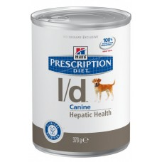 Hill's Prescription Diet L/D консервы для поддержания здоровья собак с заболеваниями печени, 370г  (C19430)