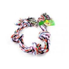 """Beeztees Игрушка для собак """"Канат с 5-мя узлами"""" разноцветный, 1000г*95см. (640937)"""