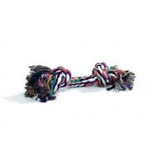 """Beeztees Игрушка для собак """"Канат с 4-мя узлами"""" разноцветный, 360г*60см. (640935)"""