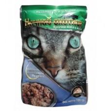 Ночной охотник консервы для кошек телятина ягненок в желе, 100 гр. (51661)