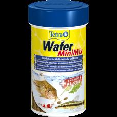 Тетра 189911 TetraWafer Mini Mix Корм для донных рыб и ракообразных, чипсы 100мл