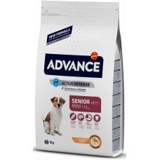 Advance MINI SENIOR для пожилых собак малых пород с курицей и рисом 8+, 3кг (P13052)