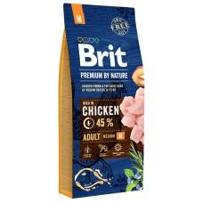Brit Premium by Nature Adult M для взрослых собак средних пород (10–25 кг)
