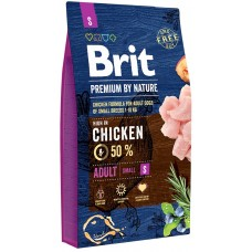 Brit Premium by Nature Adult S  для взрослых собак мелких пород (1–10 кг)