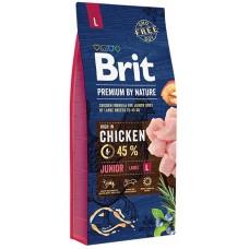 Brit Premium by Nature Junior L для молодых собак (1–24 месяцев) крупных пород (25–45 кг)