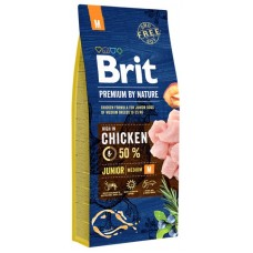 Brit Premium by Nature Junior M для молодых собак (1-12 месяцев) средних пород (10-25 кг)