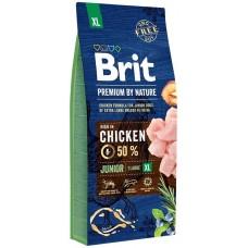 Brit Premium by Nature Junior XL для молодых собак (1-3 месяцев) гигантских пород (45–90 кг)