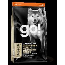 GO! CARNIVORE Беззерновой для собак всех возрастов c Ягненком и мясом Дикого Кабана 32/16