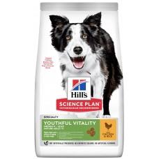 Hill's Science Plan YOUTHFUL VITALITY для пожилых собак средних пород 7+ с курицей