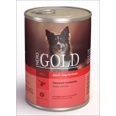 """Nero Gold Консервы для собак """"Свежая оленина"""" (Venison)"""