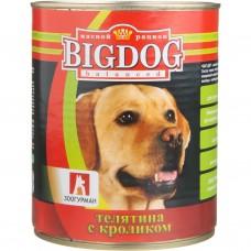 Зоогурман консервы для собак BIG DOG Телятина с кроликом 850гр. (C80302)