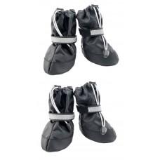 Yami-Yami Обувь для собак со светоотражающей полосой, черный