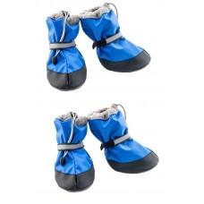 Yami-Yami Обувь для собак утепленная со светоотражающей полосой,  васильковый