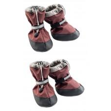 Yami-Yami Обувь для собак утепленная со светоотражающей полосой,  бордовый
