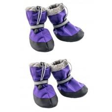 Yami-Yami Обувь для собак утепленная со светоотражающей полосой, фиолетовый