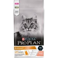 Pro Plan ELEGANT ADULT для взрослых кошек с чувствительной кожей, лосось