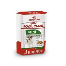 Royal Canin MINI ADULT Влажный корм для собак с 10 месяцев до 12 лет, Акция 4+1  (P344200)