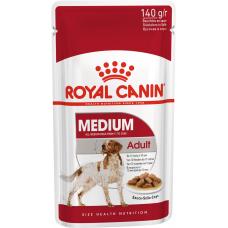 Royal Canin MEDIUM ADULT Влажный корм для собак средних пород  с 10 месяцев до 10 лет, 140г (P34423)