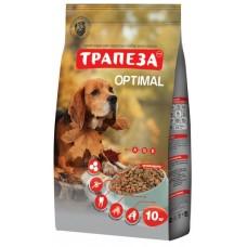 Трапеза OPTIMAL сбалансированный сухой корм для взрослых собак, содержащихся в городских условияхкорм, 10кг (P40782)