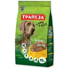 Трапеза ЯГНЕНОК с РИСОМ сбалансированный сухой корм для собак крупных пород , 10кг (P40783)