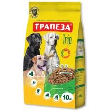 Трапеза TRIO сбалансированный высококалорийный сухой корм для взрослых собак всех пород, содержащий ТРИ вида мяса, 10кг (P40915)