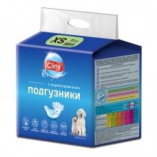 Экопром Cliny Подгузники для собак и кошек 2-4 кг размер XS (11 шт.) (P34664)