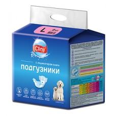Экопром Cliny Подгузники для собак и кошек 8-16 кг размер L (8 шт.) (P34667)