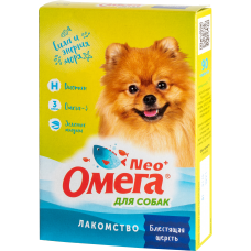 Омега Neo+ Блестящая шерсть для собак с биотином 90таблеток